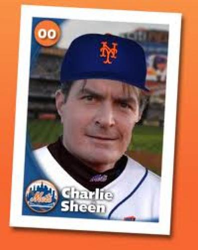 Baseball Card; Charlie Sheen(Actor); New York Mets