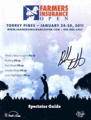 Bubba Watson autographed 2011 Farmers Insurance Open program