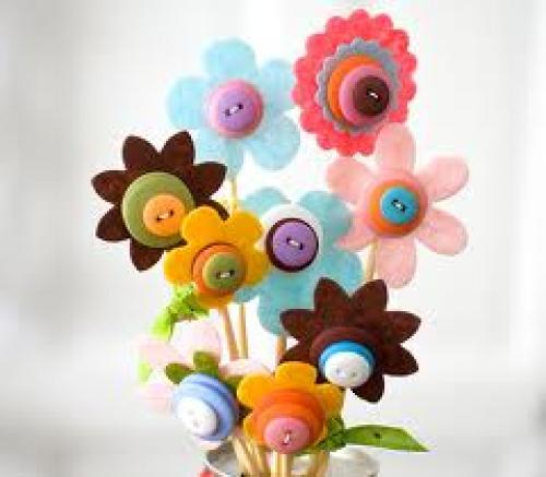 Crafts; Spring Bouquet Flowers