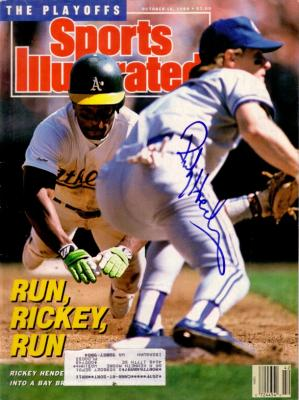 Rickey Henderson autographed Oakland A&#039;s 1989 Sports Illustrated