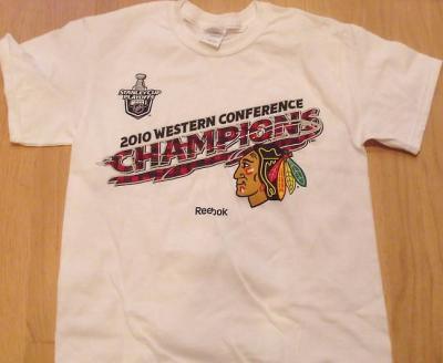 Chicago Blackhawks 2010 Western Conference Champions Reebok T-shirt