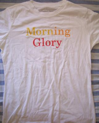 Morning Glory movie promo women's T-shirt NEW