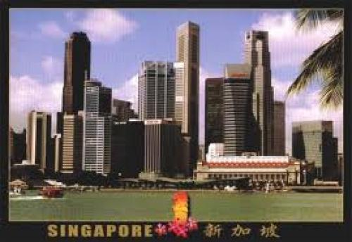 Postcard; Singapore's Downtown Core or Central Business District