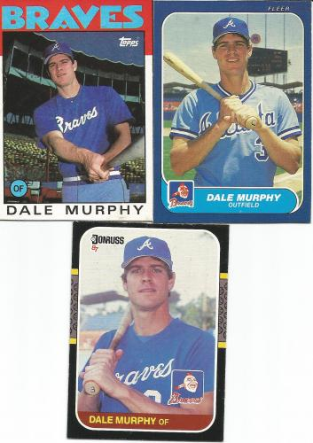 (3) Dale Murphy&#039;s Wax Box Cards * FREE SHIPPING *