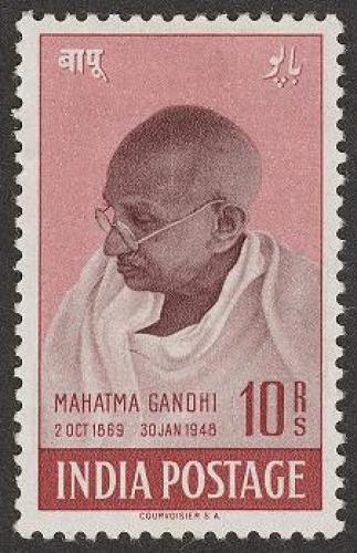 INDIA 1948 MAHATMA GANDHI 10 RS MINT NH