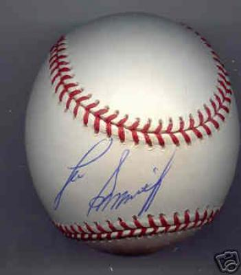 Lee Smith autographed NL baseball