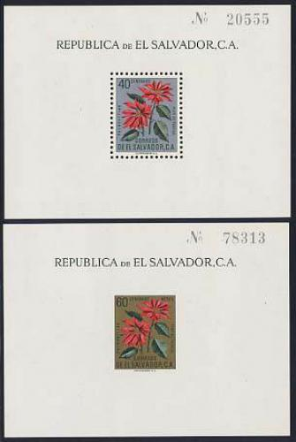 Christmas, flowers 2 s/s; Year: 1960