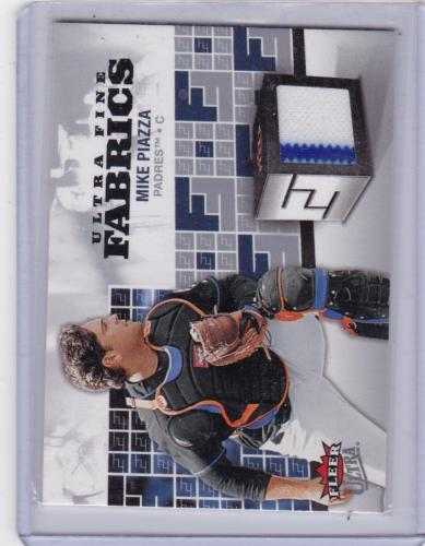 2006 FLEER ULTRA FINE FABRICS GAME JERSEY MIKE PIAZZA WITH PINSTRIPE
