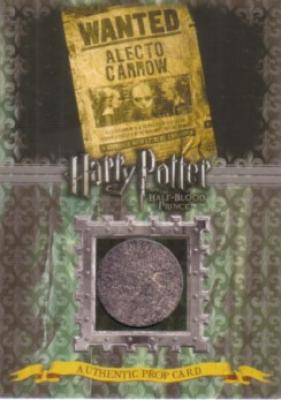 Harry Potter &amp; the Half-Blood Prince prop card P12 Alecto Carrow Wanted Poster #29/240
