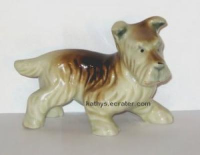 Japan Brown White Terrier Dog Animal Figurine