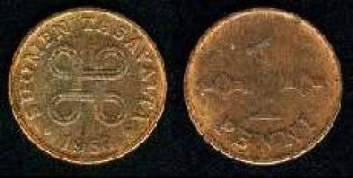 1 penni 1963-1969 (km 44); copper