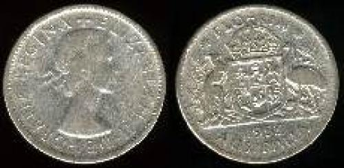 1 florin; Year: 1953-1954; (km 54); Royal Visit