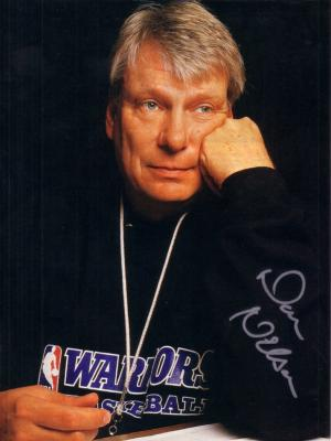 Don Nelson autographed Golden State Warriors full page magazine photo