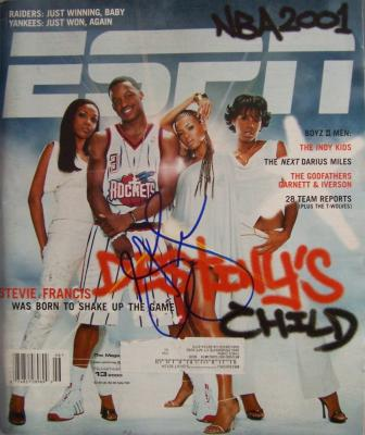 Steve Francis autographed Houston Rockets ESPN The Magazine
