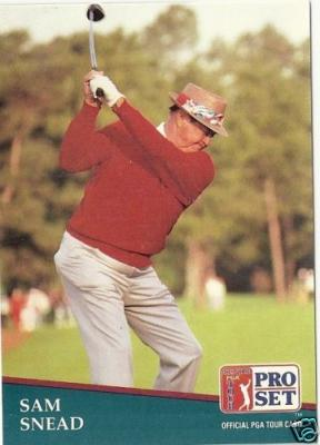 Sam Snead 1991 Pro Set Rookie Card