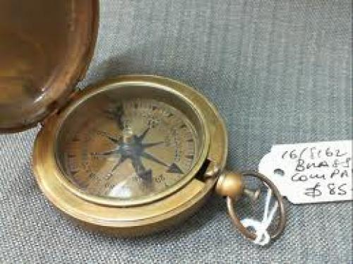 "Militaria;  Brass Compass – English T. Cooke London Maker c 1940""s"