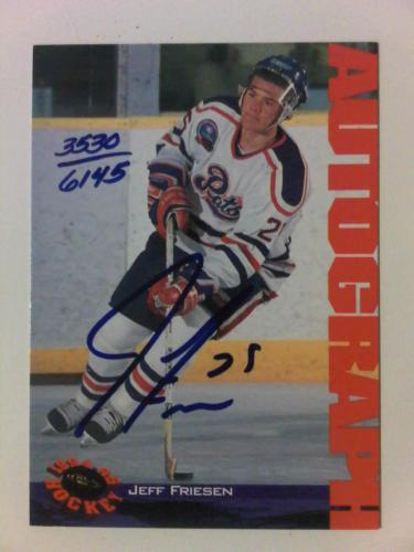 1994-95 Classic Jeff Friesen Autograph