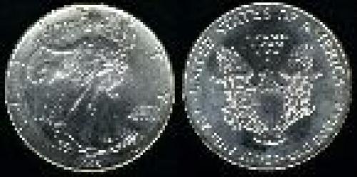 1 dollar; Year: 1986; One. Ounce Silver Eagle