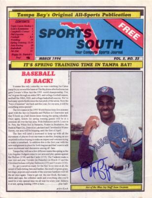 Juan Guzman autographed Toronto Blue Jays 1994 Sports South magazine
