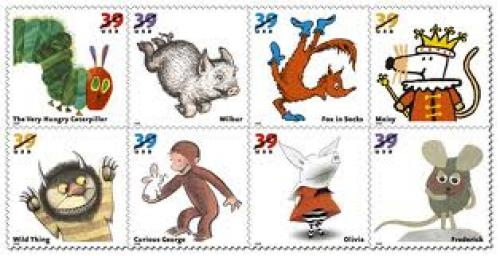 Stamps; US Postal Service issued Children's Favorite Animal Stamps