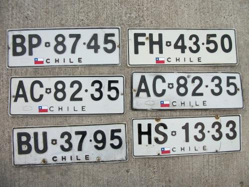 Chile plates