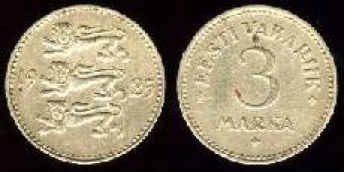 3 marka 1925 (km 2a); nickel bronze