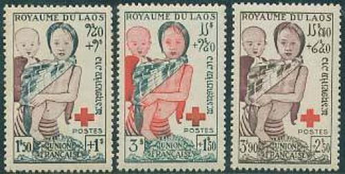 Red Cross 3v; Year: 1953