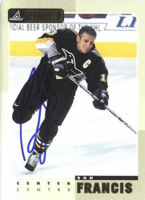 Ron Francis autographed Pittsburgh Penguins 5x7 photo card