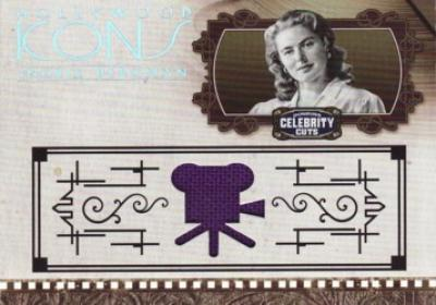 Ingrid Bergman worn clothing swatch Donruss Americana card #47/100