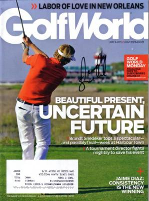 Brandt Snedeker autographed 2011 Golf World magazine