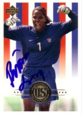 Briana Scurry autographed 2000 Upper Deck U.S. Soccer card