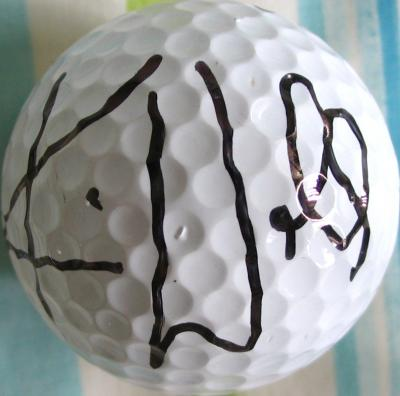 Karrie Webb autographed golf ball