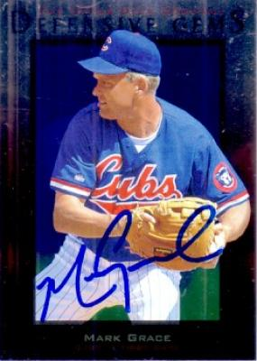 Mark Grace autographed Chicago Cubs 1996 Upper Deck card