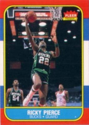 Ricky Pierce Bucks 1986-87 Fleer Rookie Card