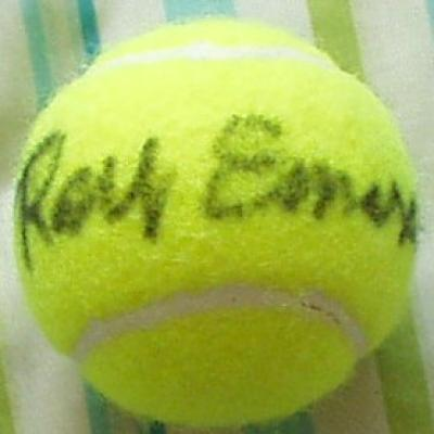 Roy Emerson autographed tennis ball