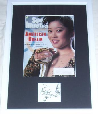 Kristi Yamaguchi autograph matted & framed with 1992 Sports Illustrated cover