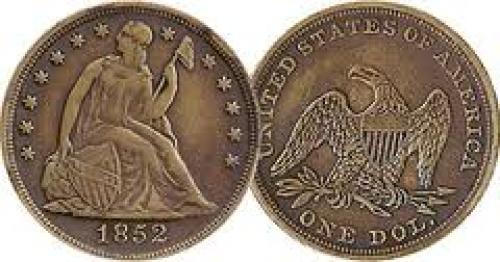 Coins: US Seated Dollar Probable Counterfeit 1852