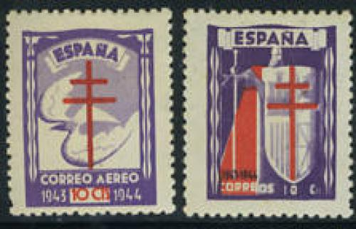 Anti Tuberculosis 2v; Year Issue:1943; Spain   Stamps