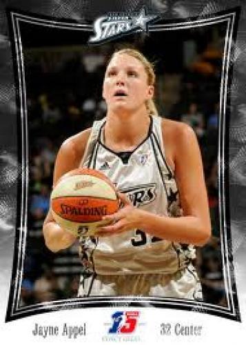 Basketball Card; JayneAppel; WNBA San Antonio Silver Star