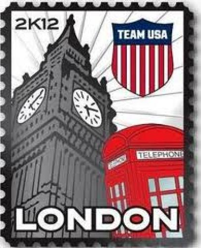 Stamps; 2012 London USA Olympic Team Crest Stamp