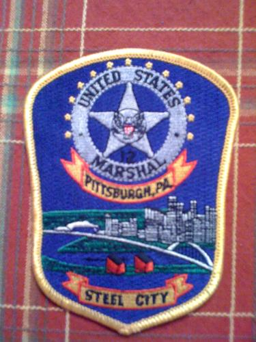 Rare Pittsburgh PA U.S. Marshal police patch