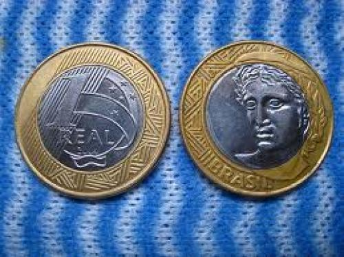 Coins; Brazilian 1 Real Coin