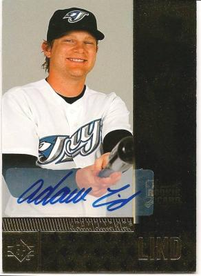 Adam Lind certified autograph Toronto Blue Jays 2007 SP Rookie Card