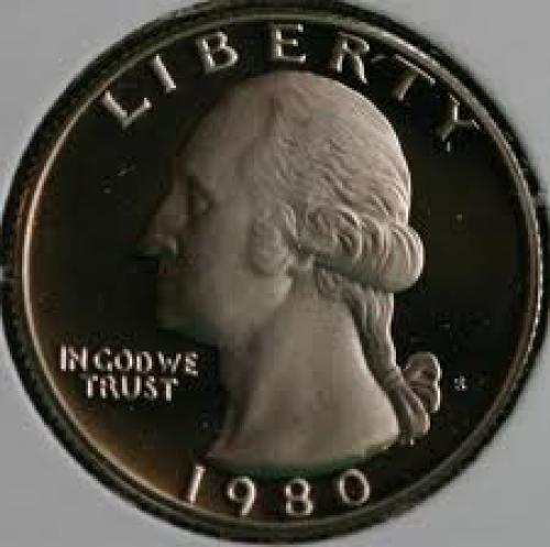Coins; 1980 CLAD Proof Washington Quarter 25c Coin