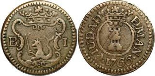 Philippine Coin : 1766 BARILLA CARLOS III KM-1-2 TYPE II