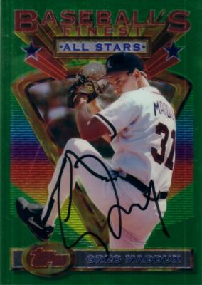 Greg Maddux autographed Atlanta Braves 1993 Topps Finest jumbo card