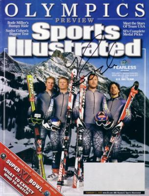 Bode Miller autographed 2006 Winter Olympics Sports Illustrated preview issue