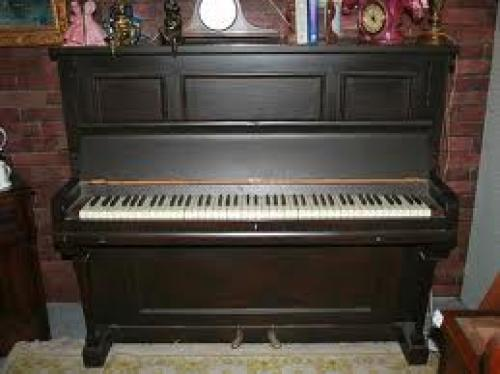 Antique Long Wooden Piano