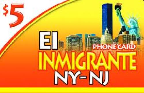 EL Inmigrante Phone Card; U.S.A