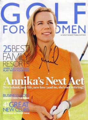 Annika Sorenstam autographed Golf for Women magazine cover